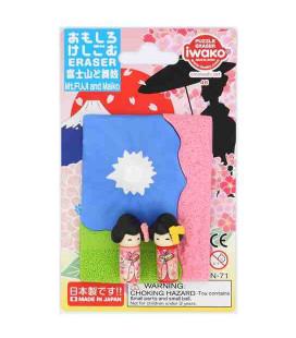 Iwako Puzzle Eraser - Mt. Fuji and Maiko - (Made in Japan)