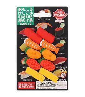 Iwako Puzzle Eraser - Sushi 10 - (Made in Japan)