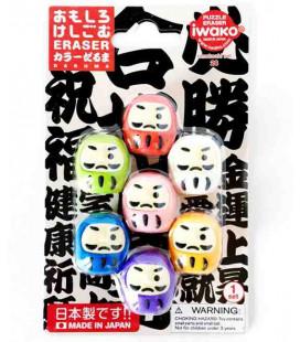 Iwako Puzzle Eraser - Daruma - (Made in Japan)