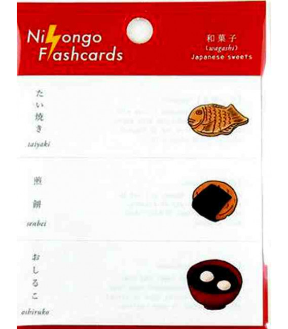 "Notas Adhesivas japonesas (post-it) ""Nihongo flanshcards"" - Wagashi (Japanese sweets)"